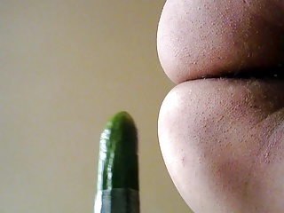 Cucumber masturbating for lovers.