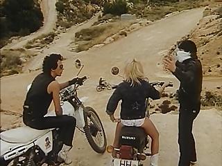 Vintage porn scene from Ibiza (1980).